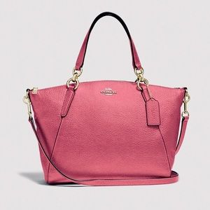 COACH | KELSEY SATCHEL CROSS BODY BAG PINK MAGENTA